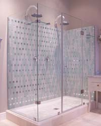 Custom frameless showers for double showers