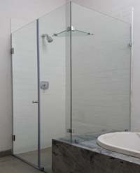 Custom frameless showers next to bath