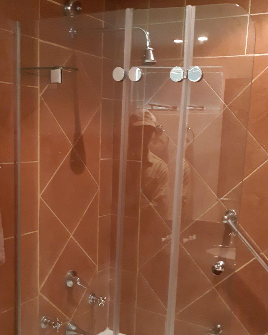Bath Screen Double Door